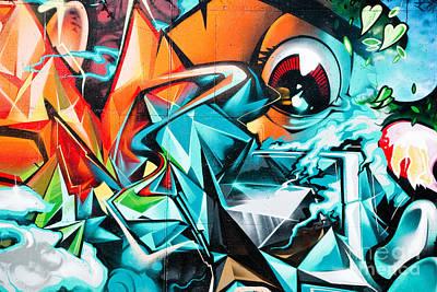 Colorful Graffiti Fragment Print by Yurix Sardinelly