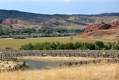 Thermopolis Photograph - Colorful Hills Of Wyoming by Carol Groenen