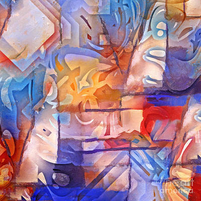 Colorful Abstract Painting - Colorful Living by Lutz Baar