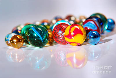 Orbs Photograph - Colorful Marbles by Carlos Caetano