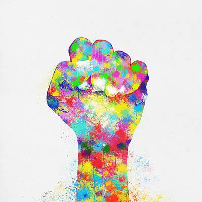 Punch Digital Art - Colorful Painting Of Hand by Setsiri Silapasuwanchai