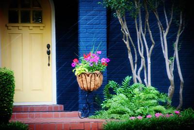 Colorful Porch Print by Toni Hopper