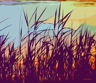 Shore Digital Art - Colorful Seagrass by Michelle Wiarda