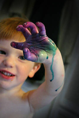 Motherhood Photograph - Colorful Trouble by Kelly Hazel
