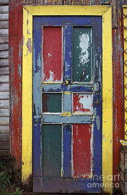 Colorful Wooden Door Print by Will & Deni McIntyre