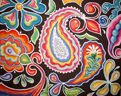 Colors Of Happiness Print by Sandra Lett