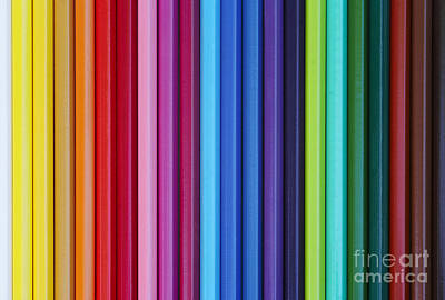 Colored Pencil Abstract Photograph - Coloured Pencils by Michal Boubin