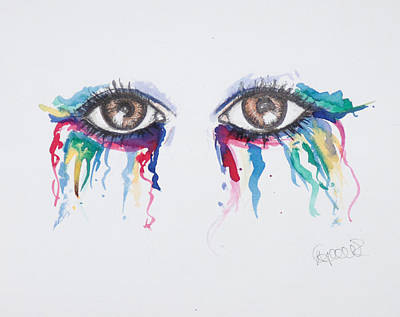 Colourfull Tears Original by Nadine Gould