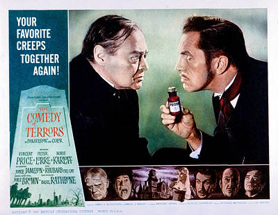Plotting Photograph - Comedy Of Terrors, Peter Lorre, Vincent by Everett