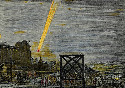 Seventeenth Century Photograph - Comet Over Nuremberg by Science Source