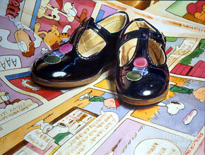 Phil Hopkins Painting - Comic Shoes by Phil Hopkins