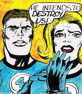 Comic Books Drawing - Comic Strip by Mel Thompson