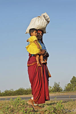 Ankle Bracelet Photograph - Coming Home After Day In Fields by Kantilal Patel