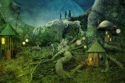 Tree Roots Digital Art - Coming Home by Carol and Mike Werner