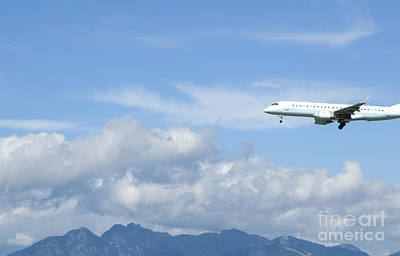 Commercial Airliner Coming In For A Landing Print by Marlene Ford