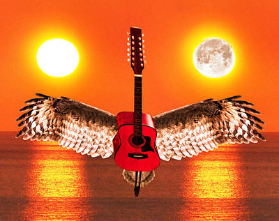 Flying Guitars Digital Art - Complicated by Eric Kempson