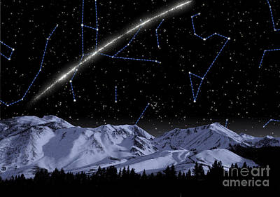 Constellation Digital Art - Concept Of A Newly Discovered Stream by Stocktrek Images