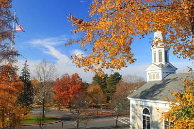 Concord Massachusetts In Autumn Print by John Burk