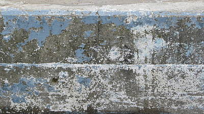 Aged Patina Photograph - Concrete Blue 1 by Anita Burgermeister