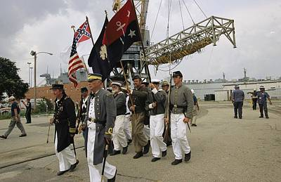 Historical Reenactments Photograph - Confederate Reenactors  Memorialize by Ira Block