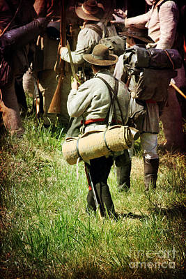 Historical Re-enactments Photograph - Confederate Soldiers by Stephanie Frey