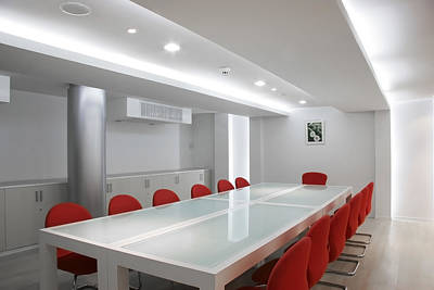 Indoor Photograph - Conference Room Interior by Setsiri Silapasuwanchai