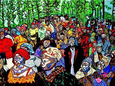 Democratic Painting - Congo by Brenda Marik-schmidt