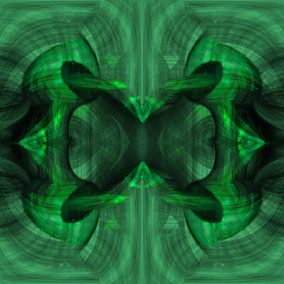 Green Painting - Conjoint - Emerald by Christopher Gaston