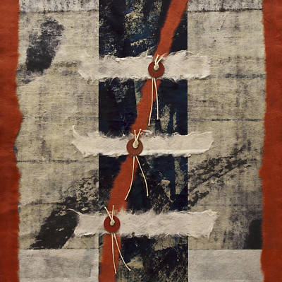 Torn Mixed Media - Connections by Carol Leigh