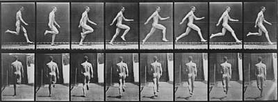 Consecutive Images Of A Nude Man Print by Everett