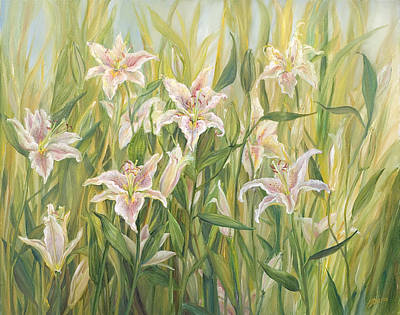 Painting - Consider The Lilies by John and Lisa Strazza