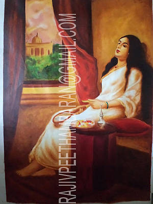 Damayanthi Painting - Contemplation by Rajiv Peethambaran