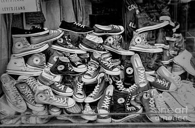 Converse Running Shoes Print by Helen  Bobis