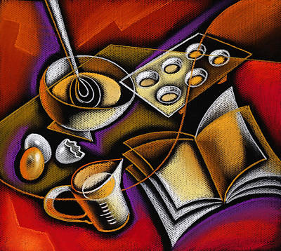 Man And Woman Painting - Cooking by Leon Zernitsky
