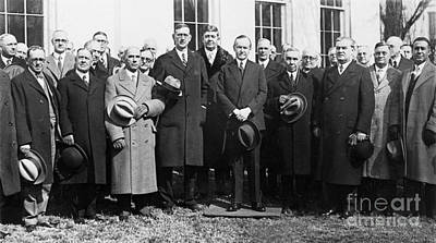 Whitehouse Photograph - Coolidge: Freemasons, 1929 by Granger