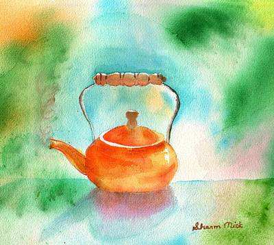 Watercolor Painting - Copper Tea Kettle by Sharon Mick