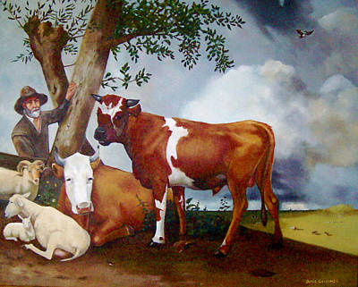 Steer Painting - Copy Of Dutch Painting By Potter by Joyce Geleynse