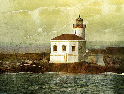 Coquille River Lighthouse Print by Jill Battaglia