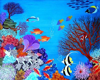 Coral Garden Print by Fram Cama
