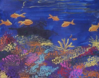 Coral Reef Garden Print by Renate Pampel