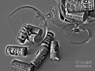 Corks 3 Print by Cheryl Young
