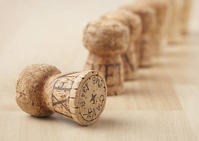 Of Wine Bottles Photograph - Corks, Close-up by STOCK4B Creative