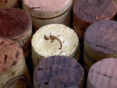 Images Of Wine Bottles Photograph - Corks by Maria Toutoudaki