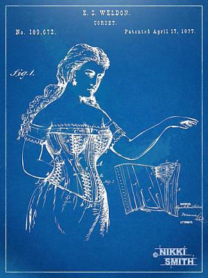 Corset Patent Series 1877 Print by Nikki Marie Smith