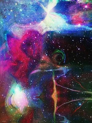 Cosmic Connection Print by Linda Sannuti