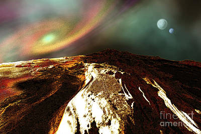 Cosmic Landscape Of An Alien Planet Print by Corey Ford