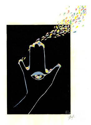 Cosmos Print by Viki Vehnovsky