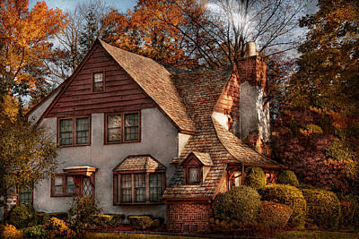 Suburbia Photograph - Cottage - Westfield Nj - Family Cottage by Mike Savad