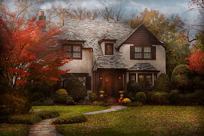 Cottage - Westfield Nj - The Country Life Print by Mike Savad