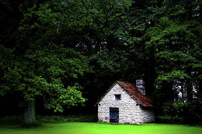 Cottage In The Woods Print by Fabrizio Troiani